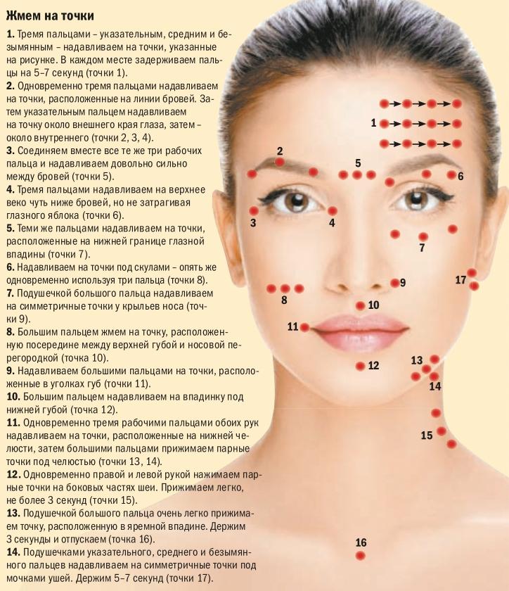 инструкция шиатсу для лица